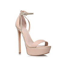 Buy Carvela Graph High Heeled Occasions Leather Sandals, Nude Online at johnlewis.com