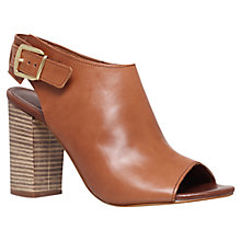 Buy Carvela Asset Peep Toe Leather Shoe Boots, Tan Online at johnlewis.com
