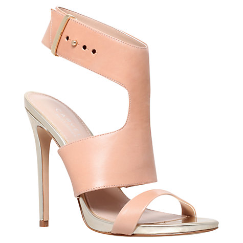 Buy Carvela Group Open Toe Stiletto Sandals, Beige Online at johnlewis.com