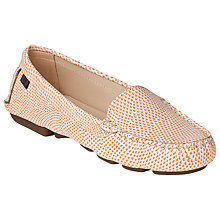 Buy L.K. Bennett Gail Driving Shoes, Tangerine Online at johnlewis.com