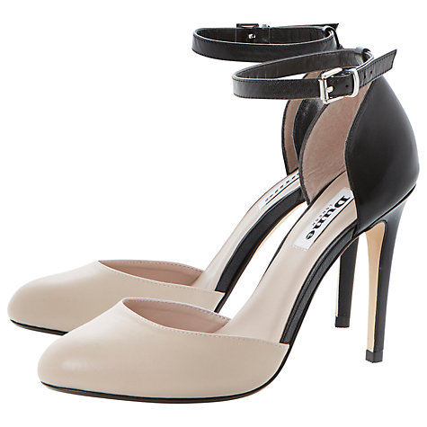 Buy Dune Carys Leather Court Shoes, Black Online at johnlewis.com