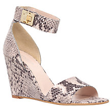 Buy Carvela Kulprit Wedge Heeled Sandals, Snake Print Online at johnlewis.com