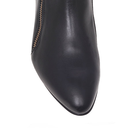 Buy KG by Kurt Geiger Sally Leather Asymmetric Zip Ankle Boots, Black Online at johnlewis.com