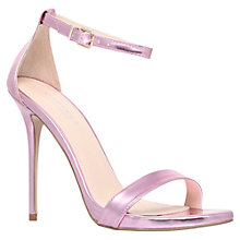 Buy Carvela Glacier Ankle Strap Statement Stiletto Sandals, Pink Online at johnlewis.com