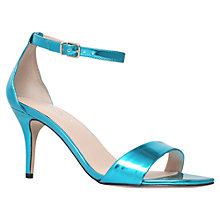 Buy Carvela Glade Mid Heel Sandals, Blue Online at johnlewis.com