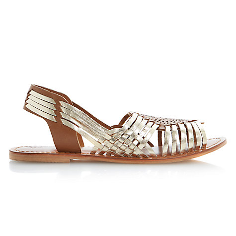 Buy Bertie Jarna Woven Leather Huarache Sandal Online at johnlewis.com