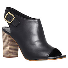 Buy Carvela Asset Leather Court Shoes, Black Online at johnlewis.com