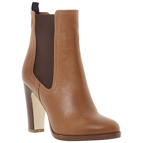 Buy Dune Black Robyn Leather Ankle Boots Online at johnlewis.com