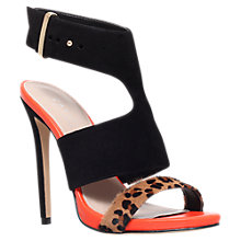 Buy Carvela Group Open Toe Leather Stiletto Sandals, Black Leopard Online at johnlewis.com