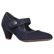 Buy Carvela Alex Mid Heel Court Shoes, Navy Online at johnlewis.com