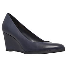 Buy Carvela Alice Wedge Court Leather Shoes, Navy Online at johnlewis.com