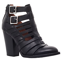 Buy Carvela Silent Leather Ankle Boots, Black Online at johnlewis.com