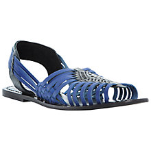 Buy Bertie Jarna Woven Leather Huarache Sandal, Blue Online at johnlewis.com