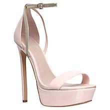 Buy Carvela Graph High Heeled Occasions Sandals, Pink Online at johnlewis.com
