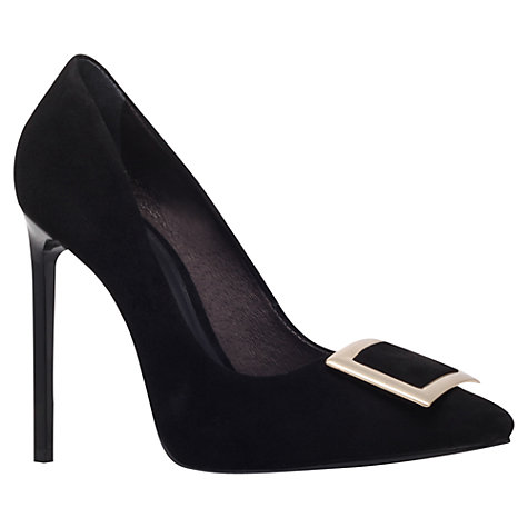 Buy KG by Kurt Geiger Bryrony Buckle Leather Court Shoes Online at johnlewis.com