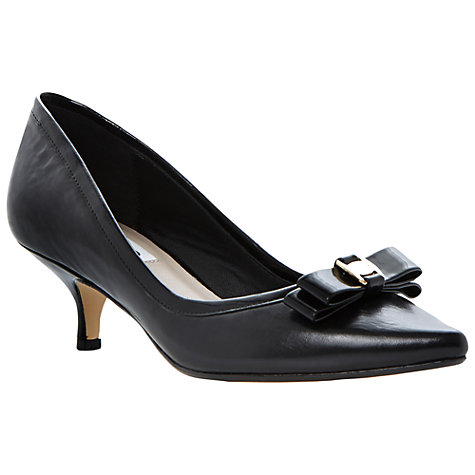 Buy Dune Alfa Bow Leather Kitten Heel Court Shoe Online at johnlewis.com