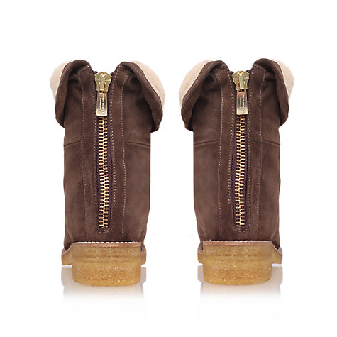 Buy Kurt Geiger Sheerly Suede Shearling Trim Ankle Boots Online at johnlewis.com