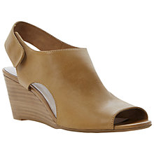 Buy Dune Giana Leather High Cut Vamp Wedge Sandals Online at johnlewis.com