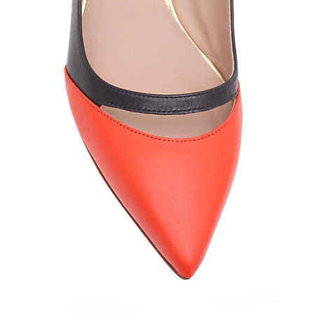 Buy Kurt Geiger Cordeila Leather Slingback Court Shoes Online at johnlewis.com