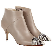 Buy Hobbs Lucia Leather Stiletto Heel Ankle Boots Online at johnlewis.com