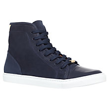Buy Kurt Geiger Leemo Leather Trainers, Navy Online at johnlewis.com
