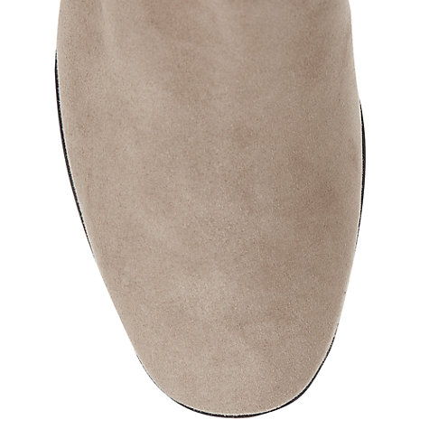 Buy Hobbs Cleo Wrap Over Strap Suede Ankle Boots, Fawn Beige Online at johnlewis.com