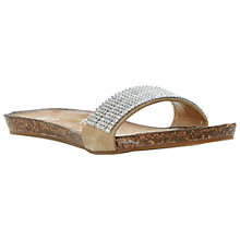 Buy Dune Jling Leather Sandals, Nude Online at johnlewis.com