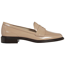 Buy Hobbs Wynne Leather Loafers, Foundation Pink Online at johnlewis.com