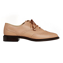 Buy Hobbs London Agatha Brogue Shoes, Foundation Pink Online at johnlewis.com