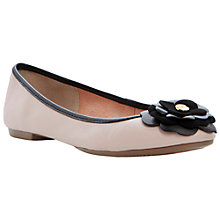 Buy Dune Mariah Leather Flower Ballerinas, Nude Online at johnlewis.com