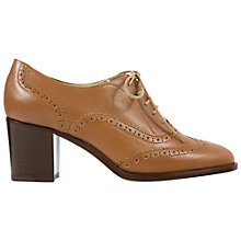 Buy Hobbs Agnes High Heel Lace Up Brogues, Milky Tan Online at johnlewis.com