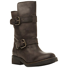 Buy Steve Madden Caveat Leather Biker Boots Online at johnlewis.com