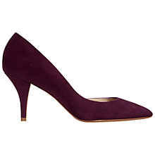 Buy Hobbs Alana Suede D'Orsay Court Shoes, Violet Pink Online at johnlewis.com