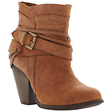 Buy Steve Madden Raffa Leather Wraparound Strap Ankle Boots Online at johnlewis.com
