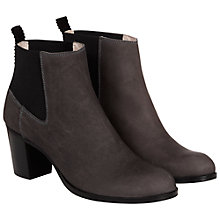 Buy NW3 by Hobbs Dylan Ankle Stretch Back Nubuck Ankle Boots, Grey Online at johnlewis.com