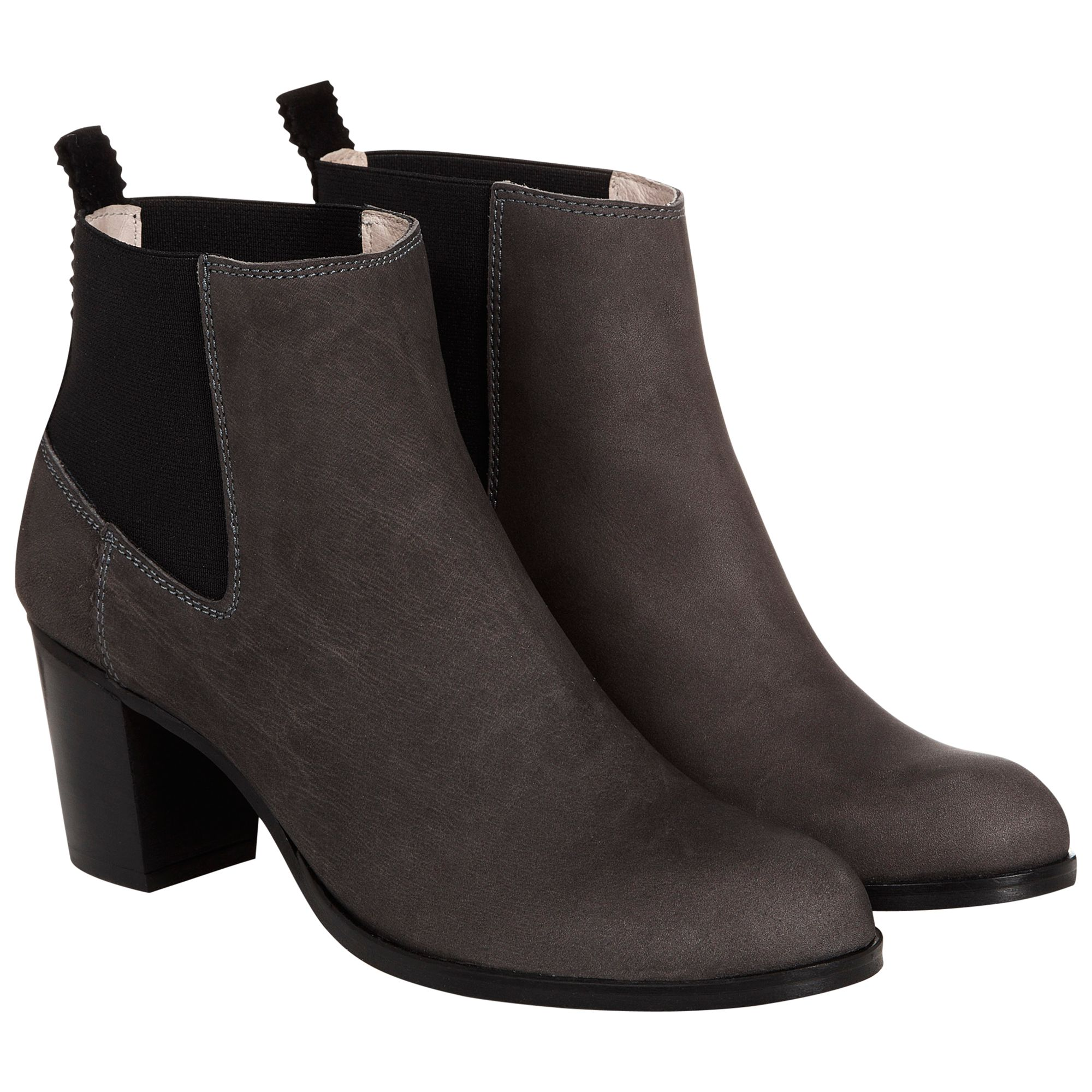 Nw3 By Hobbs Dylan Ankle Stretch Back Nubuck Ankle Boots, Grey