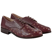 Buy NW3 by Hobbs Vida Derby Cluster Stud Lace Up Brogues, Aubergine Online at johnlewis.com