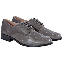 Buy NW3 by Hobbs Vida Derby Cluster Stud Lace Up Brogues, Grey Online at johnlewis.com