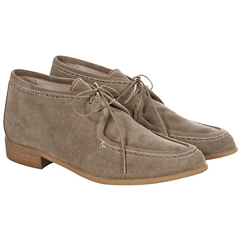 Buy NW3 by Hobbs Remi Suede Lace Up Loafers, Taupe Online at johnlewis.com