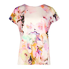 Buy Ted Baker Misfiss Electric Daydream Print Tee, Lemon Online at johnlewis.com