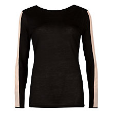Buy Ted Baker Gwlyn Crew Neck Top, Black Online at johnlewis.com