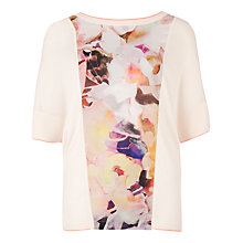Buy Ted Baker Jara Electric Day Dream Jumper, Nude Pink Online at johnlewis.com