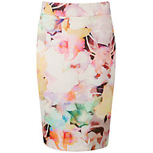 Buy Ted Baker Amarant Electric Daydream Print Skirt, Lemon Online at johnlewis.com