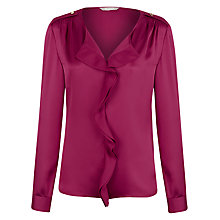Buy Planet Valentino Frill Front Blouse, Red Online at johnlewis.com