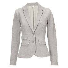 Buy Whistles Lena Double Jersey Blazer, Grey Online at johnlewis.com