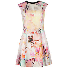 Buy Ted Baker Jeneyy Electric Day Dream Dress, Lemon Online at johnlewis.com