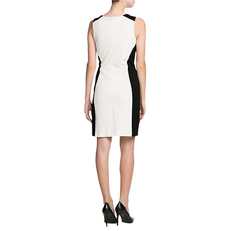 Buy Mango Monochrome Dress, Natural White Online at johnlewis.com