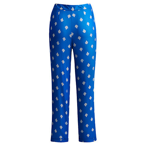 Buy Joules Jilian Trousers, Mid Blue Damask Online at johnlewis.com