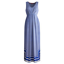 Buy Joules Oralia Maxi Dress, Mid Blue Damask Online at johnlewis.com