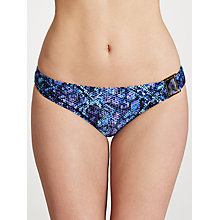 Buy John Lewis Lizard Print Fold Over Bikini Briefs, Blue Online at johnlewis.com